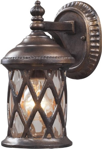 Gate Barrington Elk - Elk Lighting Barrington Gate Outdoor Wall Lantern in Hazelnut Bronze
