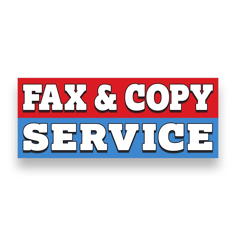FAX /& Copy Service Vinyl Banner 5 Feet Wide by 2 Feet Tall