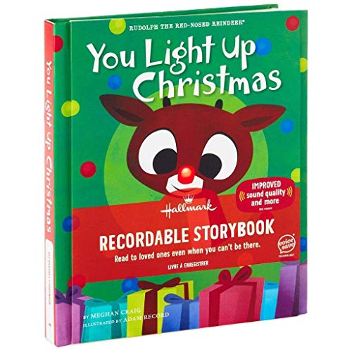 Hallmark Rudolph The Red-Nosed Reindeer You Light Up Christmas Recordable Storybook (Up Reindeer Light Christmas)