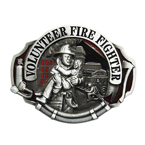 Firefighter Belt Buckle (New Enamel Hero Volunteer Fire Fighter Belt Buckle also Stock in US)
