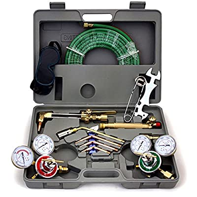 ARKSEN Harris Type, Gas Welding & Cutting Torch w/ Hose, Professional Set with Case