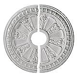 Ekena Millwork CM17RA2 17 5/8-Inch OD x 3 5/8-Inch ID x 7/8-Inch Raymond Ceiling Medallion, Two Piece