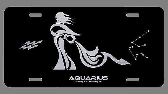 Amazon.com: Placa de metal con grabado láser del zodiaco ...