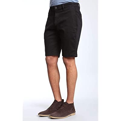 34 Heritage Mens Nevada Shorts in Black Twill at Men's Clothing store