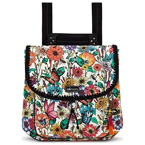 Sakroots Flap Backpack, Optic in Bloom