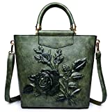 Stylish Crossbody Bags Purses Shoulder Bag for Women in Contrast Design(green-251027cm)