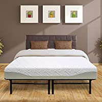 Best Price Mattress 9 Gel-Infused Memory Foam Mattress & Dual-Use Steel Bed Frame/Foundation Set, Full
