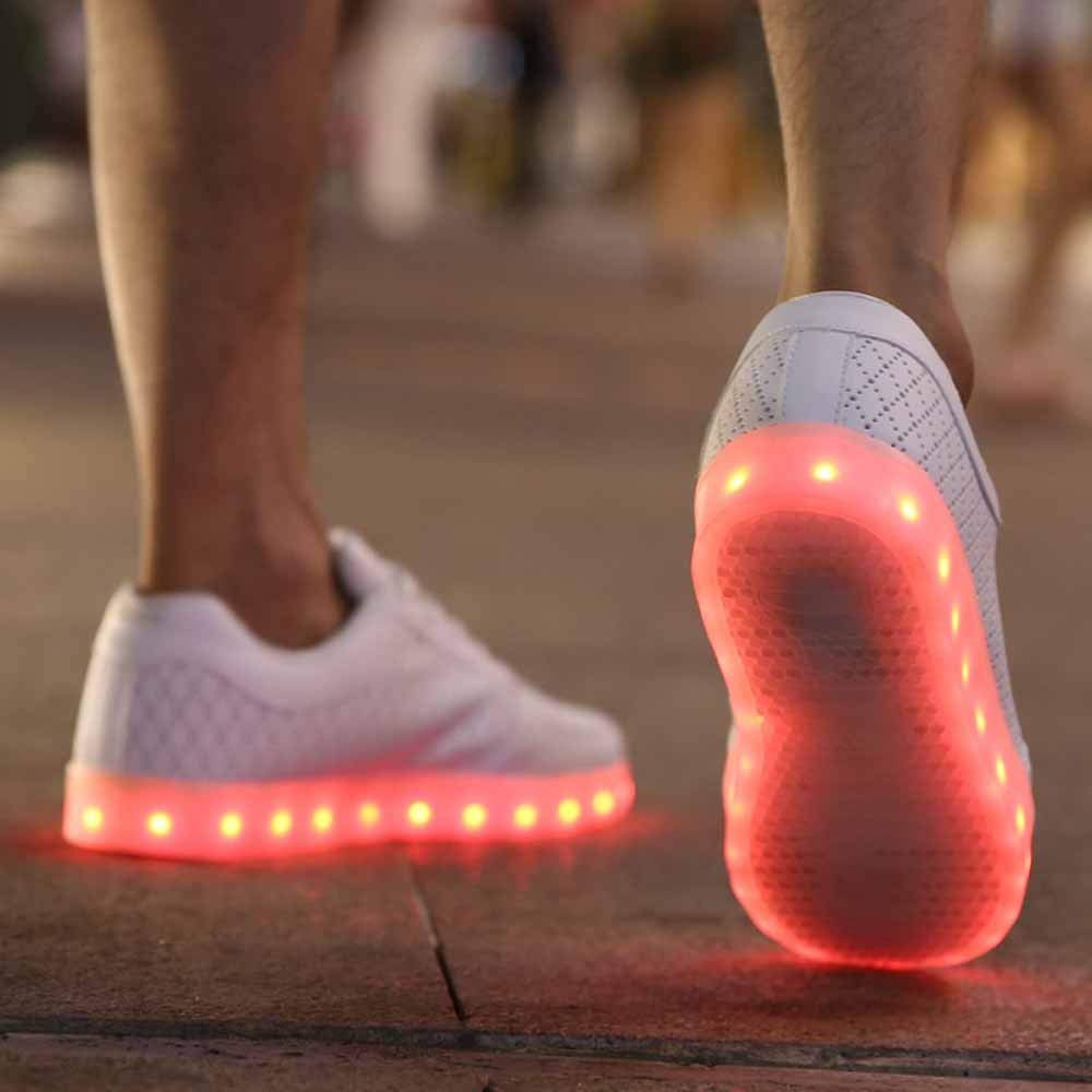 SMTSMT-SHOES Couple Casual Shoes USB Charging Sports Radiant Shoes Colorful LED Lights Shoes