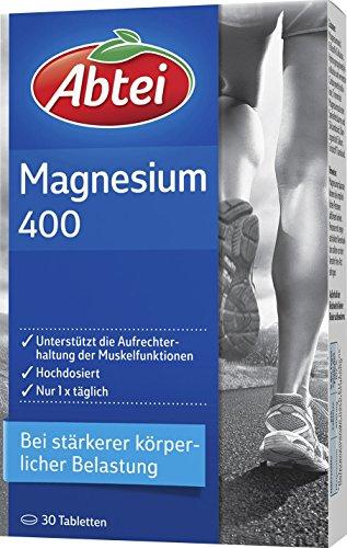 Abtei Magnesium 400mg Tabletten, 30 Stück, 2-er Pack (2 x 39,5g)