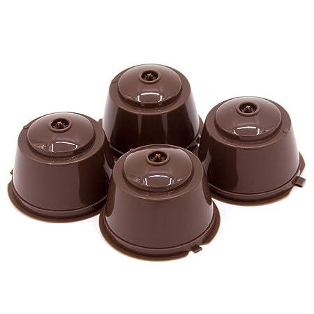 TiooDre Cápsula de café, 4 piezas de plástico Taza de cápsula de ...