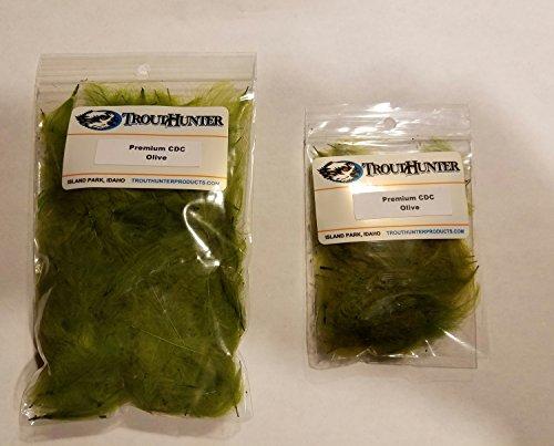 TroutHunter Premium Dyed CDC - 3.5g - Olive - Fly Tying