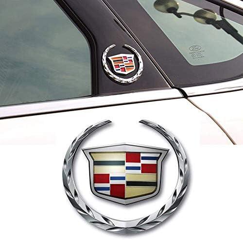 1pcs 3D for Cadillac Emblem  Metal Labeling for Escalade ATS SRX XTS CTS XT5 XLRetc Car Tailgate Hood Emblem