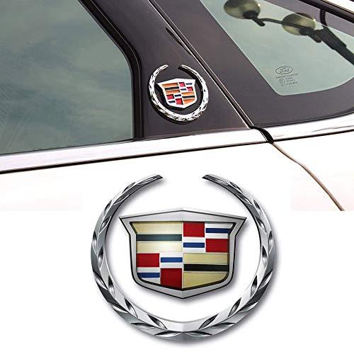 - 1pcs 3D Cadillac Emblem, Metal Labeling for Escalade ATS SRX XTS CTS XT5 XLR,etc, Car Tailgate Hood Emblem