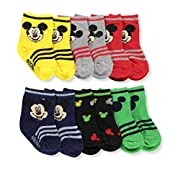 Mickey Mouse Infant Baby Socks, 6 Pack (Size: 0-6 mo. / Shoe Size: 1-2, Multicolor)
