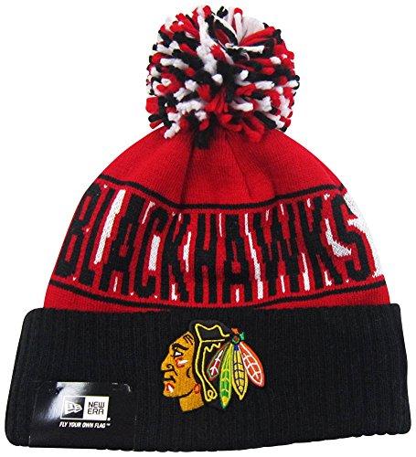 Chicago Blackhawks Rep Ur Team Cuff Pom Knit Beanie Hat / Cap