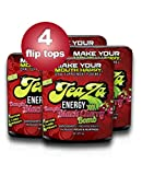 TeaZa Energy's Bangin' Black Cherry Bomb 4 Flip Tops - Have More Energy Anywhere!