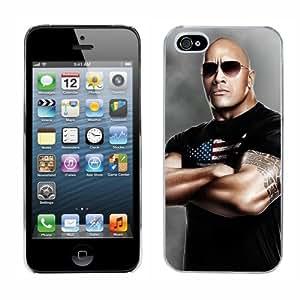 WWE Wrestling The Rock cas adapte iphone 5 couverture coque rigide de protection (2) case pour la apple i phone by runtopwell