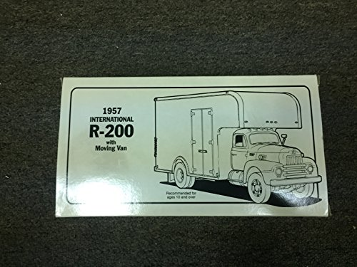 First Gear 1:34 Scale 1957 International R-200 with Moving Van Die Cast Metal