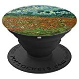Vincent Van Gogh Art Field With Poppies Blue Sky Red Flowers - PopSockets Grip and Stand for Phones and Tablets