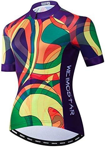 weimostar Wielertruien Womens Bike Volledige Rits Outdoor Sport Racing Wandelen Running Sweatshirt Kleurrijke XL