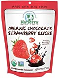 Natierra Organic Freeze-Dried Chocolate Covered Strawberry Slices | Non-GMO & USDA Organic Certified | 1.5 Ounce (Pack of 12)
