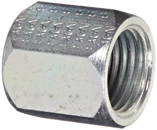 "Eaton Aeroquip 1290-6S Steel Versil-Flare Flared Tube Fitting, Nut, 3/8"" Tube OD, 9/16"" Female JIC (Pack of 10) from Aeroquip"