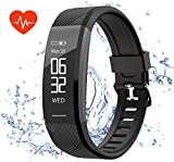 Fitness Tracker, Teetox Smart Bracelet Wristband Activity Tracker Heart Rate Monitor ip67 Waterproof