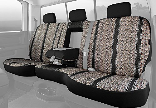 Fia TR42-92 BLACK Custom Fit Rear Seat Cover Split Seat 60/40 - Saddle Blanket, (Black)