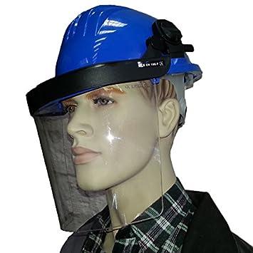Bauhelm mit Gesichtschutz Helm Schutzhelm Forsthelm Forstschutzhelm