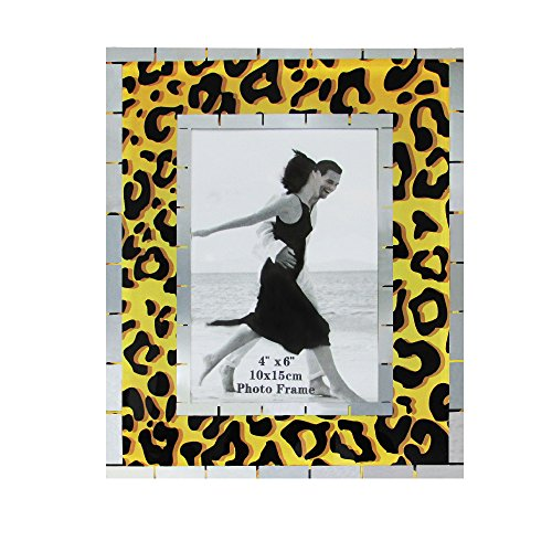 Leopard Photo - Rockin Gear Glass Photo Frame Leopard Print Design Wall and Table Top Picture Frame - Holds a 4