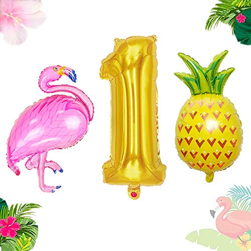 - JeVenis 3PCS Flamingo 1st Birthday Balloon One Balloon Flamingo 1st Birthday Decoration Flamingo Party Supplies 1st Birthday Party Birthday Decorations