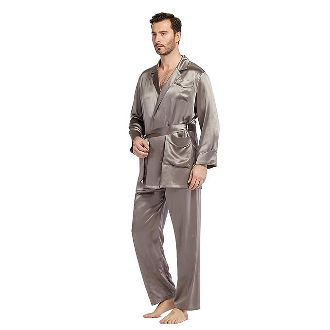Lilysilk Pijamas Hombre Seda Escote Clásico De Traje 100% Seda De Mora De 22 Momme