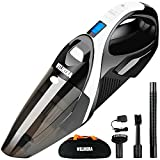 WELIKERA Cordless Vacuum, 12V 100W Hand-held Cordless Vacuum Cleaner, Powerful Portable Pet Hair Vacuum, Cordless Rechargeable Vacuum for Home and Car Cleaning, with A Carrying Bag, Black