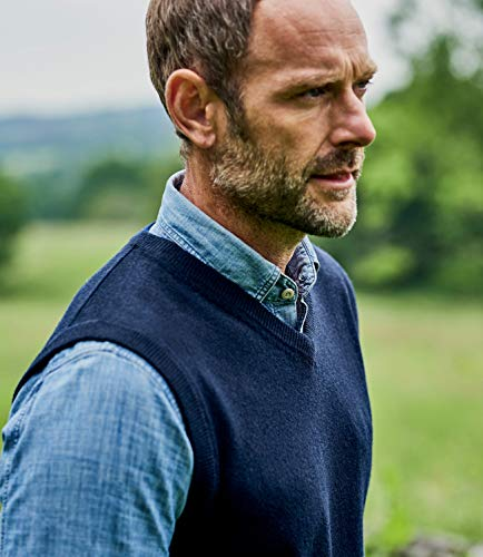 Manches Cachemire Homme Pull Wool Mérinos Sans Navy Overs qw8Ta4