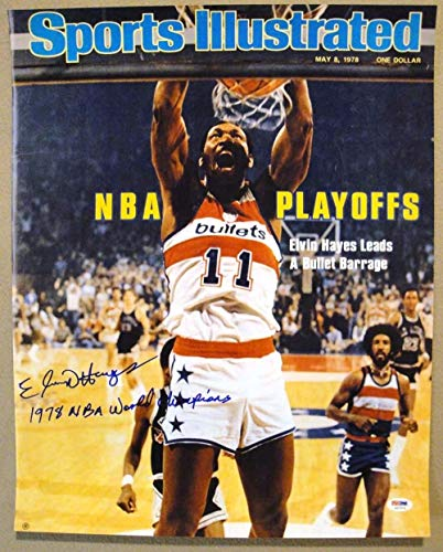 (Elvin Hayes Autographed Signed Memorabilia 16X20 Photograph Sports Illustrated Bullets PSA/DNA Autographed Signed Memorabilia)