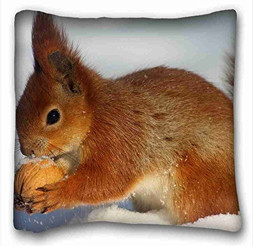 custom-cotton-polyester-soft-animals-snow-winter-squirrel-myob-nut-nature-rectangle-pillowcase-16x16