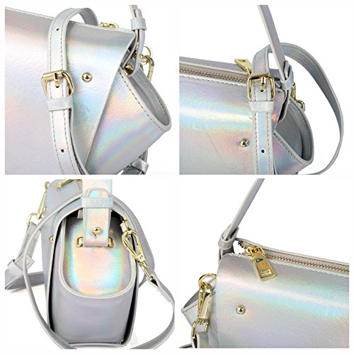 Women Shoulder Handbag Bag Color Street Tote Fashion Roomy Ladies' 6201851 Handle Top Bag Ab Satchel Bag PU Hobo Orgr5