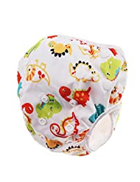 Homyl Baby Cartton Swim Diapers Reuseable Washable & Adjustable for Swimming Lesson - Dinosaur, as described