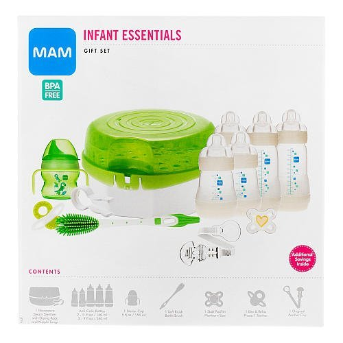MAM Infant Essentials Baby Bottle Feeding Gift Set