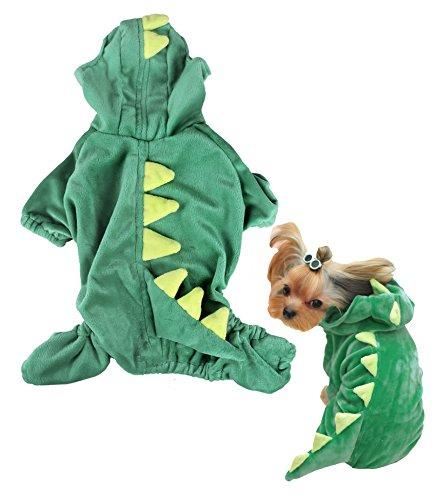 PetsLove Pet Outwear Velvet Dinosaur Costume Apparel for Dogs