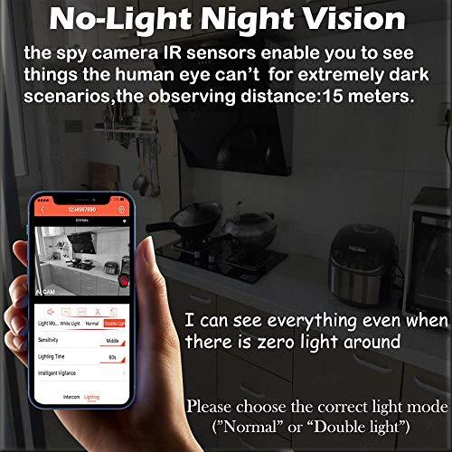 OsxoBear USB Hidden Camera,Wireless Hidden Camera - Security Surveillance Camera - Hidden Spy Camera 1080p with Color Night Vision,Low-Light Night Vision,No-Light Night Vision (32GB Card)