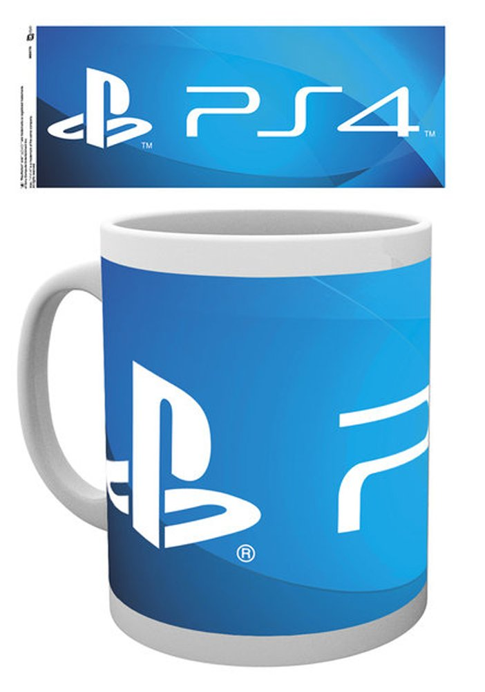 Empireposter Playstation PS4; Size (cm) Approx. ø8,5 9.5 – Licensed Mug, New – Description *, White Printed, Capacity 320 ml Ceramic Mug, Officially Licensed – Dishwasher and Microwave Safe 5 9.5 - Licensed Mug New - Description * 737052