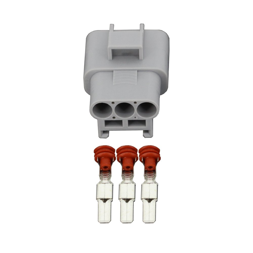 5 Sets 3 Pin Electric Fan Plug Female And Male Connector with Terminal DJ7031-4.8-11//21