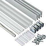 3 ft. Aluminum E-Z Glide Tracks (Price per set)