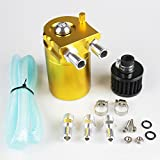 Universal 10mm D1 Turbo Engine Oil Catch Tank Can Reservoir Tank Rakcing Oil Catch Can Performance - silver,Black,Red,Blue gold purple RS-OCC009 (gold)