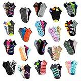 (36 Pairs) Bulk Case of Wholesale Women's Low Cut, No Show Footie Socks Size 9-11 in 12 Styles