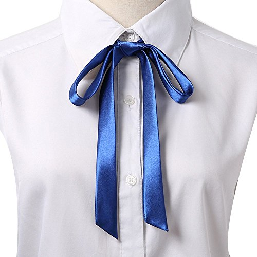 Gliterstar Women's Solid Color Bow Tie School Student Sailor Suit Bowknot Adjustable Ribbon ()
