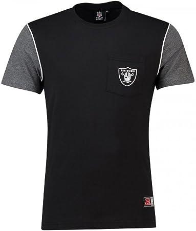 Majestic Camiseta NFL Oakland Raiders Daley Pocket Negro/Gris