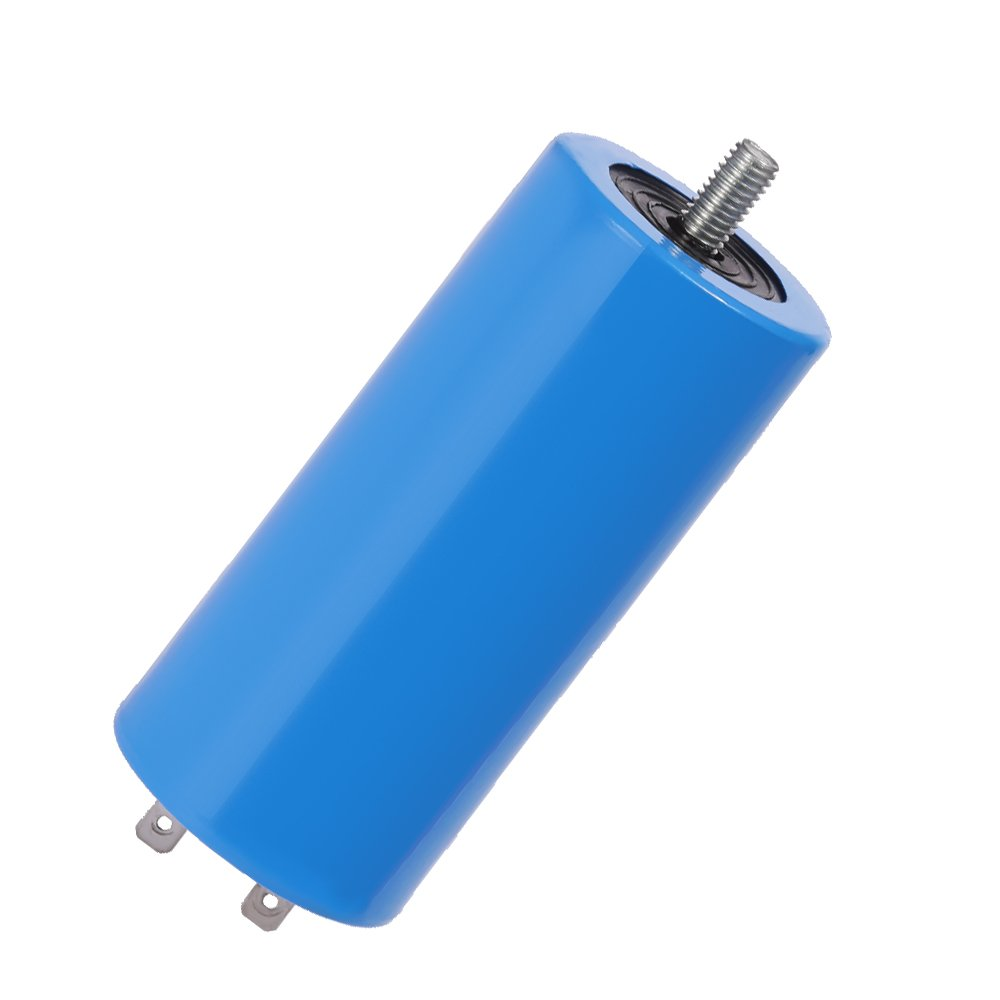 QKPARTS CBB60 Run Capacitor 450VAC 450V AC 120uF 120 MFD UL listed W/Fixing Stud Blue