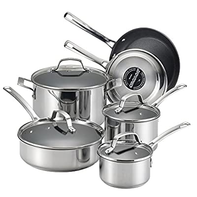 Circulon 77881 Genesis Stainless Steel 10-Piece Cookware Set